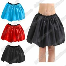 "Ladies Satin 3 Layers Halloween Fancy Dress Hen Night Party 18"" Long Tutu Skirt"