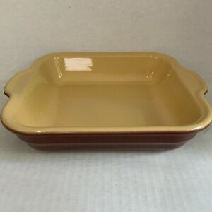 Emile Henry France Stoneware Square Casserole Dish 9x9x2 with Handles