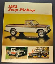 1982 Jeep Pickup Truck Brochure J-10 Honcho Laredo 4x4 Excellent Original 82