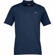 Mens Under Armour Golf Shirt Performance Polo Textured Navy Medium