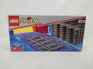 LEGO System 4515 8 x Electric Rail Straight Tracks 9V Vintage 1992 Sealed Box