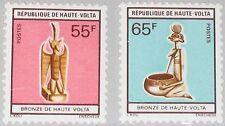 UPPER VOLTA OBERVOLTA 1977 651-52 410-11 Bronze Statuette Bronzefiguren Art MNH