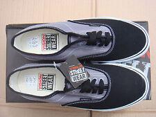 Patineta Gris/Negro Vision Street Wear Lona Zapatillas Uk Size 10