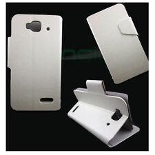 étui en cuir FLIP cover STAND Blanque pr Alcatel One Touch Idol MINI 6012D 6012