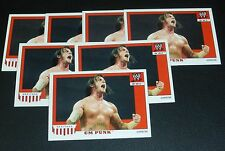 CM Punk WWE 2008 Topps Heritage IV 4 Trading Card #10 Pro Wrestling Wrestlemania