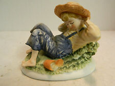 "Vintage Lefton China ""Sleeping Boy"" Figurine 4"" x 5.25"" x 3.25"" Excellent Cond."