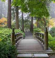 Wooden Foot Bridge in a Japanese Garden-Wall Mural-7.5'wide by 8'high
