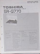 Toshiba SR-Q770 plateau service repair workshop manual (original)