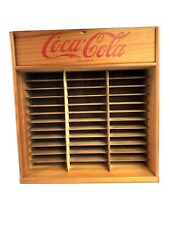Wooden Authorized Coca-Cola CD Rack Holds 72 CDs