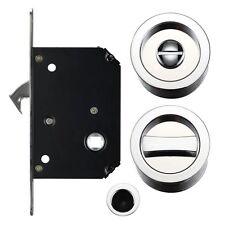 Privacy Porta scorrevole serratura Set-Cromato Lucido (40mm - 44mm spessore porte)