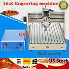 USB 3 Axis 3040 CNC Router Engraver 3D Carving Milling Engraving Machine Desktop