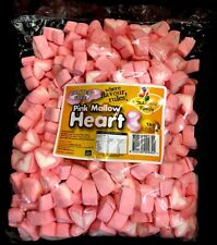 Lolliland Pink Mallow Heart Shape Marshmallows 1kg bag Gluten Free