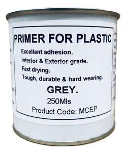 250ml Grey Primer Paint For Plastic, Fiberglass, Melamine, GRP. Brush - Spray On