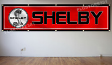 Shelby Cobra Flag Banner 2x8Ft Motorsport Car Racing Garage Man Cave Flag