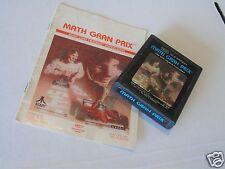 Atari 2600 Math Gran Prix Sears Variant Manual ATARI 2600 Video Game System