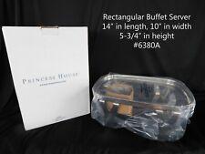 Princess House #6380A Buffet Serving Rack Rectangular Stainless Steel NEW
