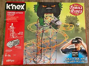 K'nex Thrill Rides Panther Attacks Roller Coaster Building Set with Ride It-NEW