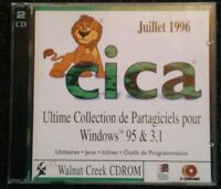 Cica The Ultimate Collection of Shareware for Windows 95 3.1 PC CD-Rom Very Rare
