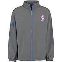 NBA Logo Men Big & Tall Full Zip Soft Shell Jacket NBA Gray $100 NWT