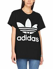 Adidas Originals Big Trefoil Tee T-shirt donna nera 48 Noir