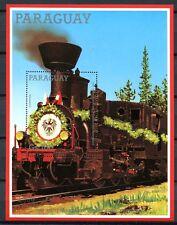Paraguay 1988 Eisenbahn Railways Train Dampflokomotive Block 447 MNH