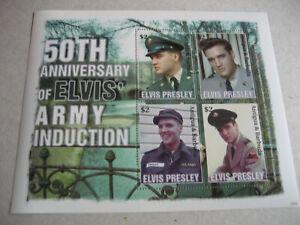 ANTIGUA & BARBUDA   2008  50th ANNIVERSARY  ELVIS PRESLEY INDUCTION TO  US ARMY