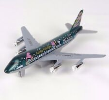 "Toy Airplane Turbo Jet Diecast Metal Happy Holidays - Green - 7.5"" L New"