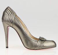 NIB$875 Christian Louboutin 37 36.5 PEWTER Metallic Pump Simple So Kate Pigalle