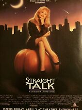 Straight Talk, Dolly Parton, Full Page Vintage Promotional Ad