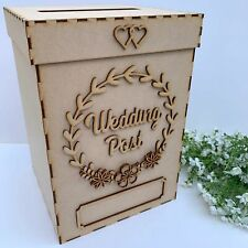 MDF Wooden Large Wedding Post Box, Build Your Own Wedding Post Box Wishing Well