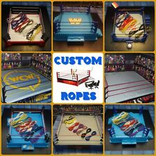 Ropes for WWE Wrestling Figure Rings *Read Description!* Retro ASR Hasbro Mattel