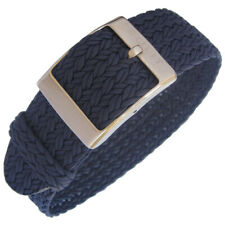 20mm EULIT Palma Navy Blue Woven Perlon Made in Germany Watch Band Strap