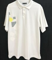 CALLAWAY MEN'S GOLF POLO SHIRT WHITE LARGE POLYESTER
