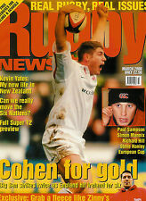 RUGBY NEWS (UK) MAGAZINE March 2000