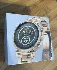 Michael Kors Gold-Tone Heart Rate Smartwatch Stainless Steel Strap MKT5062