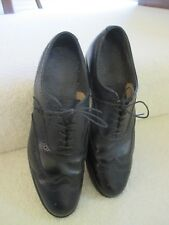 Black men's lace up dress shoes size 12D Leather made in the USA