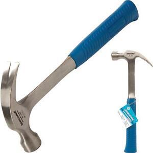 Silverline 16oz Solid Forged Claw Hammer Fibreglass Rubber Grip Handel