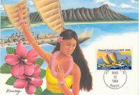 HAWAII - USA 1984 superb Maximumcard Hawaii Statehood (Mi-Nr. USA 1687)