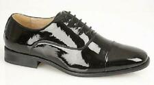 Goor Black Patent evening formal Lace-up shoe leather quarter lining (m291)