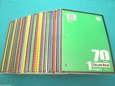 Spiral Notebook 1 Subject 70 Sheets College Ruled 20 Spiral Notebooks Lot