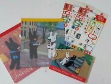 Gaspard and et Lisa Stationary set Letter paper memo pad sticker 5pc set