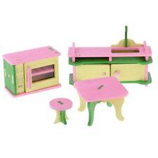 Puppenhaus Zubehör Möbel Miniaturen Holz Puppenküche 4-tlg. 5995