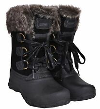 Khombu Black Slope Women's Ladies Waterproof Winter Boots Size 8, New no box