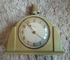 Vintage Art Deco Metamec Electric Alarm Clock and Bedside Lamp
