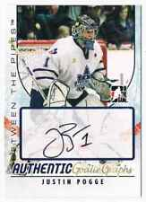 2007-08 BETWEEN THE PIPES GOALIEGRAPHS JUSTIN POGGE AUTO TORONTO MARLIES #A-JP