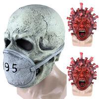 Halloween Horror Full Mask Skull Zombie Cosplay Costume Creepy Spooky Party Prop