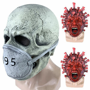 Horror Full Mask Scary Pandemic Skull Mask Cosplay Costume Halloween Party Props