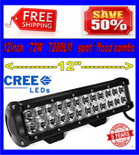 12 inch 72W Cree Led Light Bar Flood Spot Combo Beam SUV UTE ATV Boat Truck 4WD