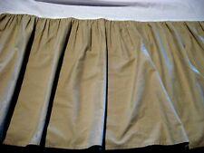RALPH LAUREN Gathered Beige Cotton Bedskirt - KING
