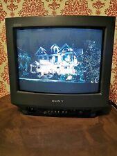 "Sony Trinitron KV-14M1U Color CRT Cube TV Screen Retro Gaming Monitor 14"" Screen"